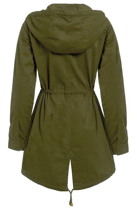 Jaket Parka Kanvas Womem new womens canvas mac jacket cotton twill hooded fish