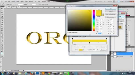 testo oro tutorial photoshop effetto testo oro gold text effect