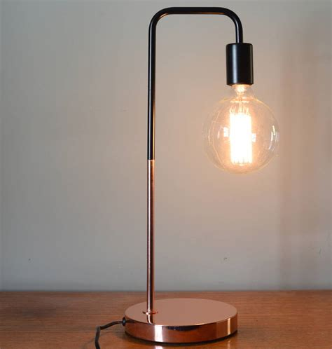 small desk lights black and copper slim desk l by the forest co