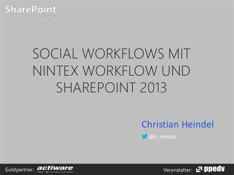 nintex workflow sharepoint 2013 social workflows mit nintex workflow und sharepoint 2013