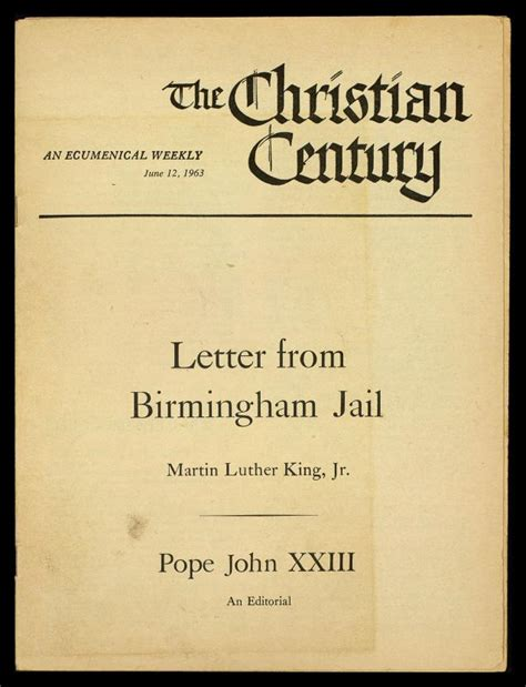 Response Letter From Birmingham Letter From Birmingham The Martin Luther King Jr Center For Nonviolent Social Change