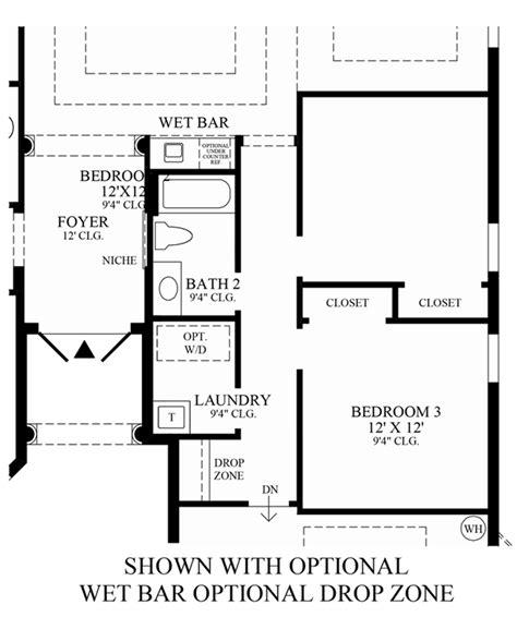 wet bar floor plans bonita lakes executive collection the salerno home design
