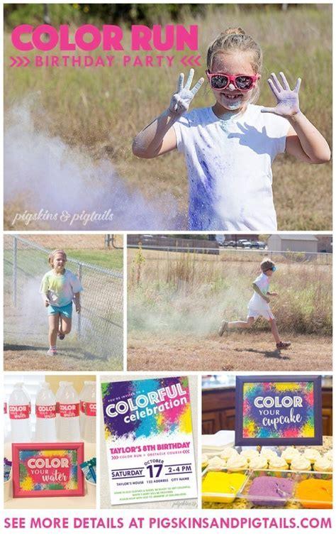 color run ideas a color run birthday is for active