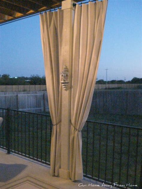 outdoor drop cloth curtains drop cloth out door curtains outdoor spaces pinterest