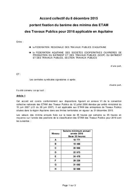 Grille Des Salaires Du Batiment by Convention Collective Etam Batiment Grille Salaire Hep