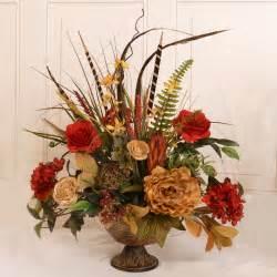 Home Decor Silk Flower Arrangements by Floral Home Decor Silk Flower Arrangement With Feathers