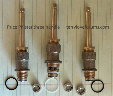 How To Replace Cartridge In Price Pfister Kitchen Faucet pfister 3 handle shower replacement terry love plumbing
