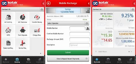 kotak mahindra credit card payment from other bank official banking apps for android smartphones