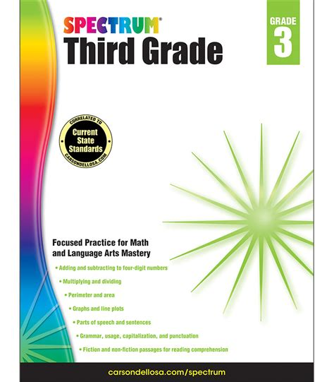 libro spectrum 3 workbook spectrum third grade workbook grade 3 carson dellosa publishing