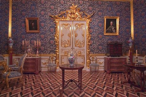 Peterhof Palace Interior Photos by Photo 482 20 A Decorated Door And Parquet Floor In Grand