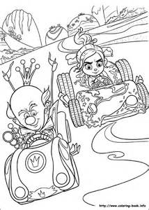 disney wreck it ralph coloring pages