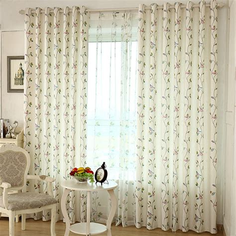 bird kitchen curtains free shipping flower bird fluid country fresh rustic