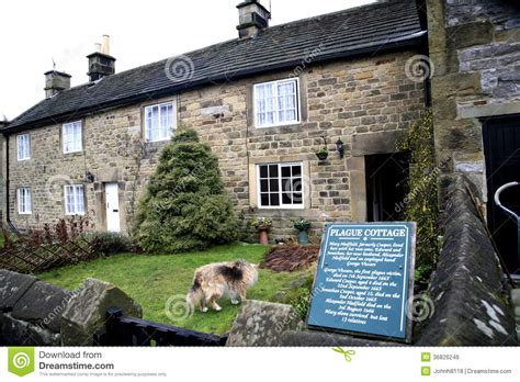Eyam Plague Cottages by Plague Cottage Eyam Derbyshire Editorial Photo Image