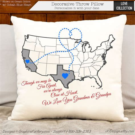 personalized gifts for grandparents personalized pillows custom burlap cotton linen pillows