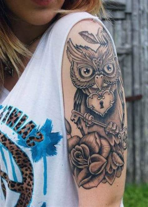 feminine quarter sleeve tattoo designs 71 best owl tattoos that you will fall in love with