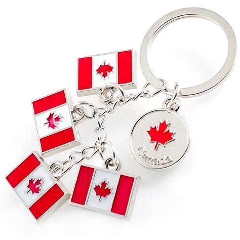 Key Chain Gantungan Kunci Souvenir Swiss canada souvenirs gifts keychain canadian flag