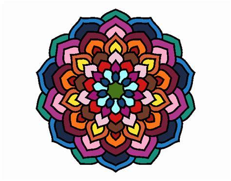 petali di fiori disegno mandala petali di fiori colorato da fpt01 il 09 di