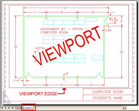 autocad add view layout viewport sle