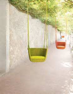 Little yellow flowers adagio hanging chairs paola lenti
