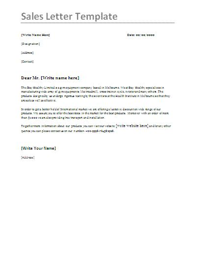 Sle Business Letter For New Product Sle Sales Letter Formsword Word Templates Sle Forms