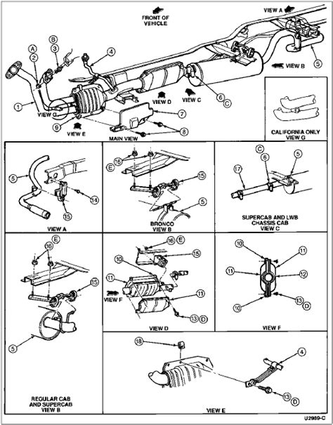 Exhaust System Diagram Ford F150 Ford F 150 Catalytic Converter Diagram F Ford Free