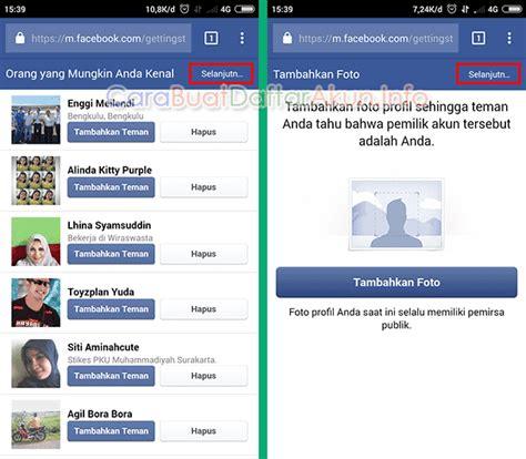 daftar akun facebook  lewat hp  nomor