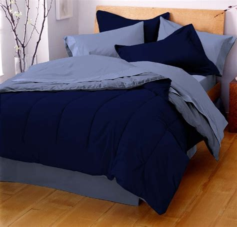 navy blue full size comforter martex reversible solid color comforter full queen navy