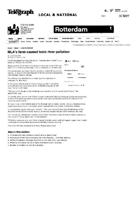 Complaint Letter Mla Format Northern Ireland Assembly Report On A Complaint By Mr