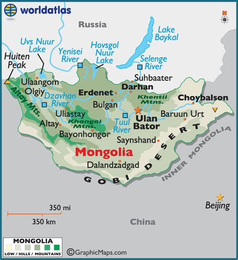 5 themes of geography mongolia mongolia large color map