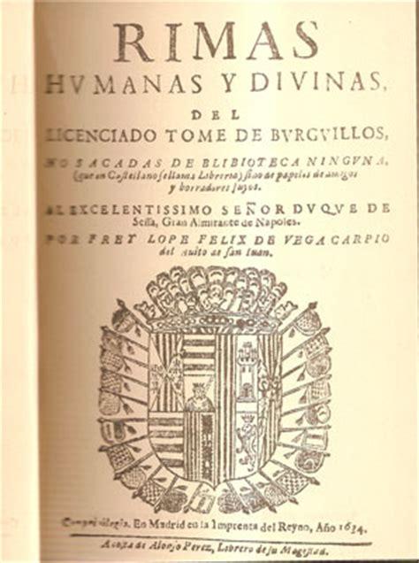 libro rimas humanas y divinas literatura general rimas humanas y divinas del licenciado tome de burguillos libros antiguos
