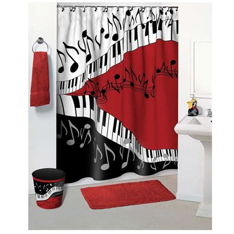 kids shower curtains and matching accessories jazzy music print shower curtains from musictreasuresco
