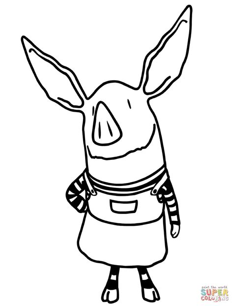 olivia pig coloring page olivia the pig coloring page free printable coloring pages