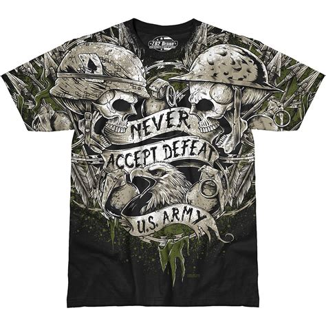 design a military shirt 7 62 design mens tee army never accept defeat t shirt