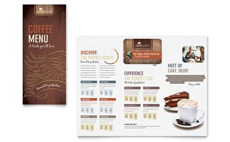 coffee price list template coffee shop menu template word publisher