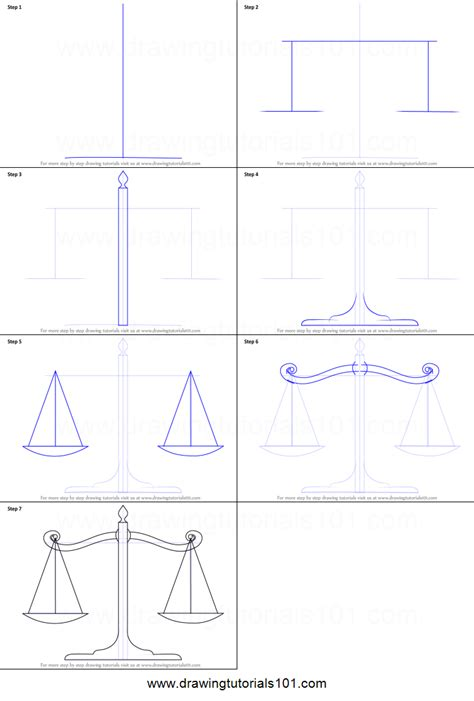 draw to scale how to draw scales of justice printable step by step drawing sheet drawingtutorials101