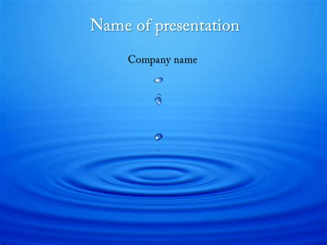Dripping Water Powerpoint Template For Impressive Presentation Free Download Powerpoint Template