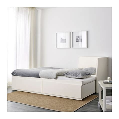 tarva extendable daybed with 2pcs uratex mattresses flekke day bed frame with 2 drawers white 80x200 cm ikea