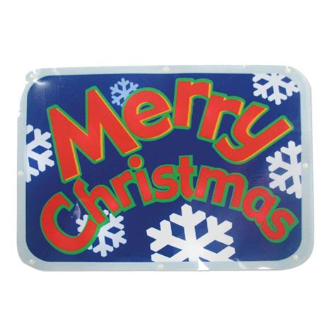 merry christmas window sign brite battery operated 16 in led light show window sign quot merry quot 48 209 00 the