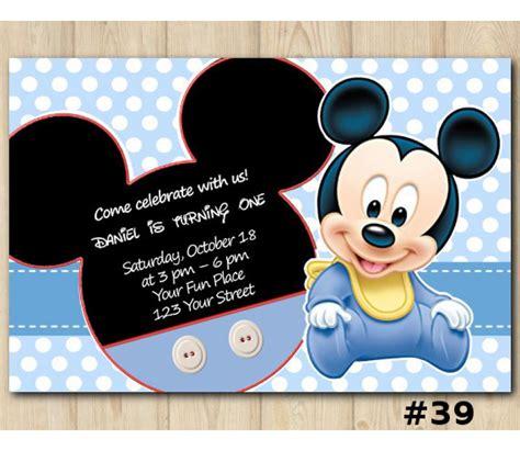 mickey mouse birthday invitation mickey mouse invitation