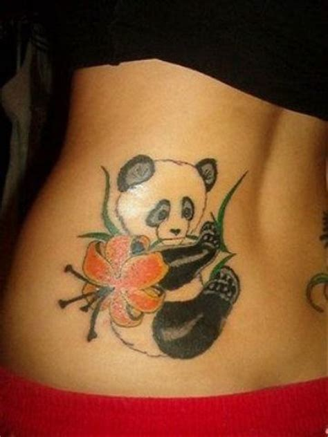 panda flower tattoo 74 wonderful panda tattoos