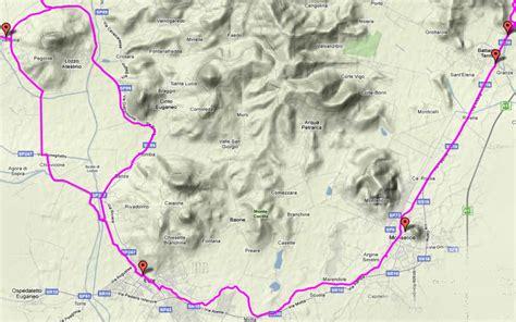 itinerario anello delle citt 224 anello cicloturistico attorno ai colli euganei pista