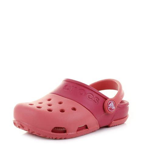 shoes like crocs comfort girls kids crocs electro clogs 2 coral raspberry comfort
