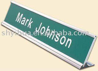 Papan Nama Meja Desk Name Akrilik 6 X 25 Cm melengkung pintu besi papan nama akrilik pintu nameplates