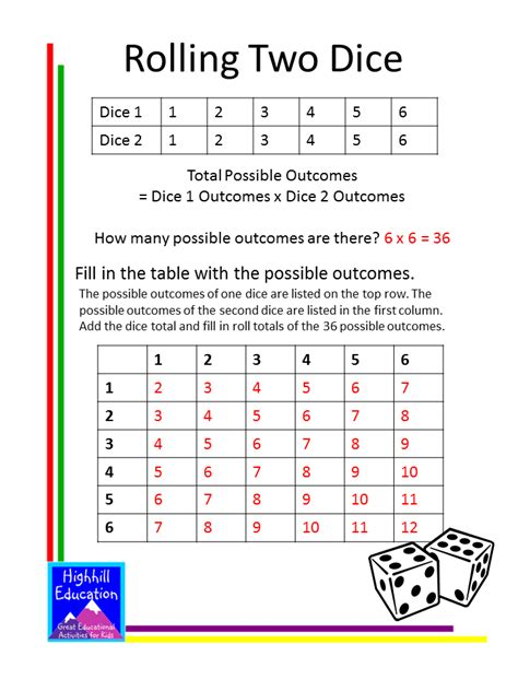 printable probability games highhill homeschool probability lessons and activities