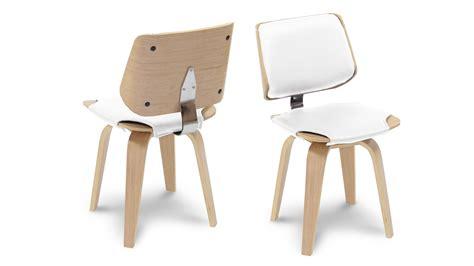 Comment Disposer Les Meubles Dans Une Chambre by Chaise Design Scandinave Bois Chaise Tissu Et Bois