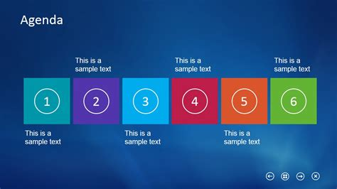 Horizontal Layout Slide Design Agenda For Powerpoint Slidemodel Slide Template In Powerpoint