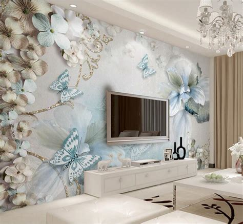 custom mural wallpaper  bedroom walls  beautiful