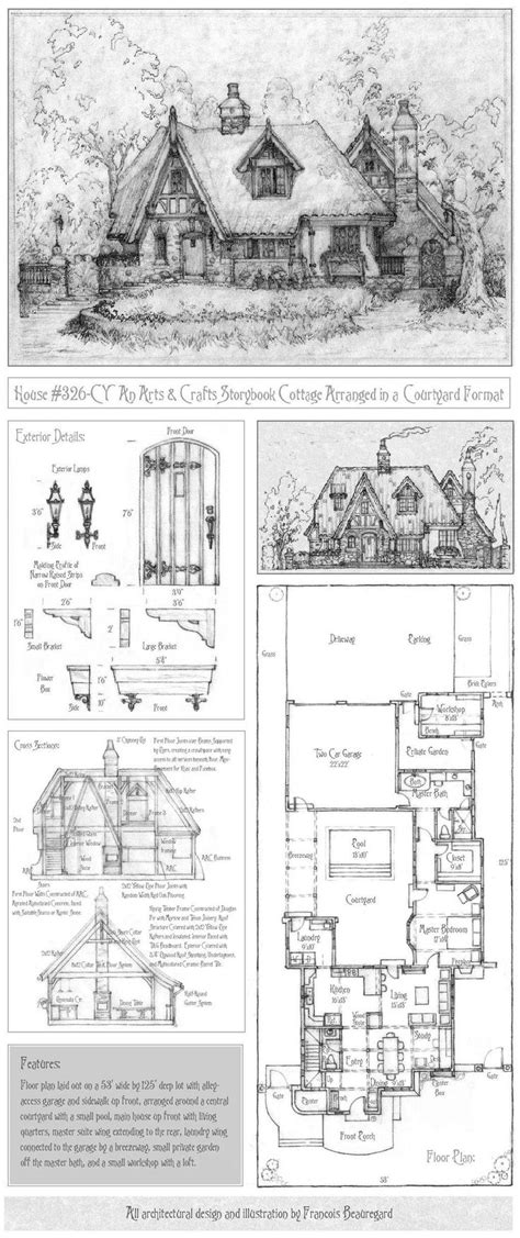 storybook cottage plans storybook cottage house plans free with storybook cottage