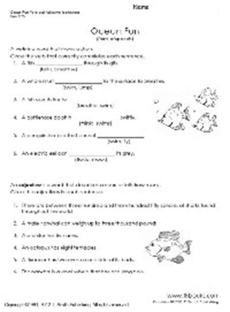 Parts Of Speech Worksheets 4th Grade