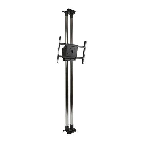 floor to ceiling pole peerless mod fcs2kit300 modular dual chrome pole floor to